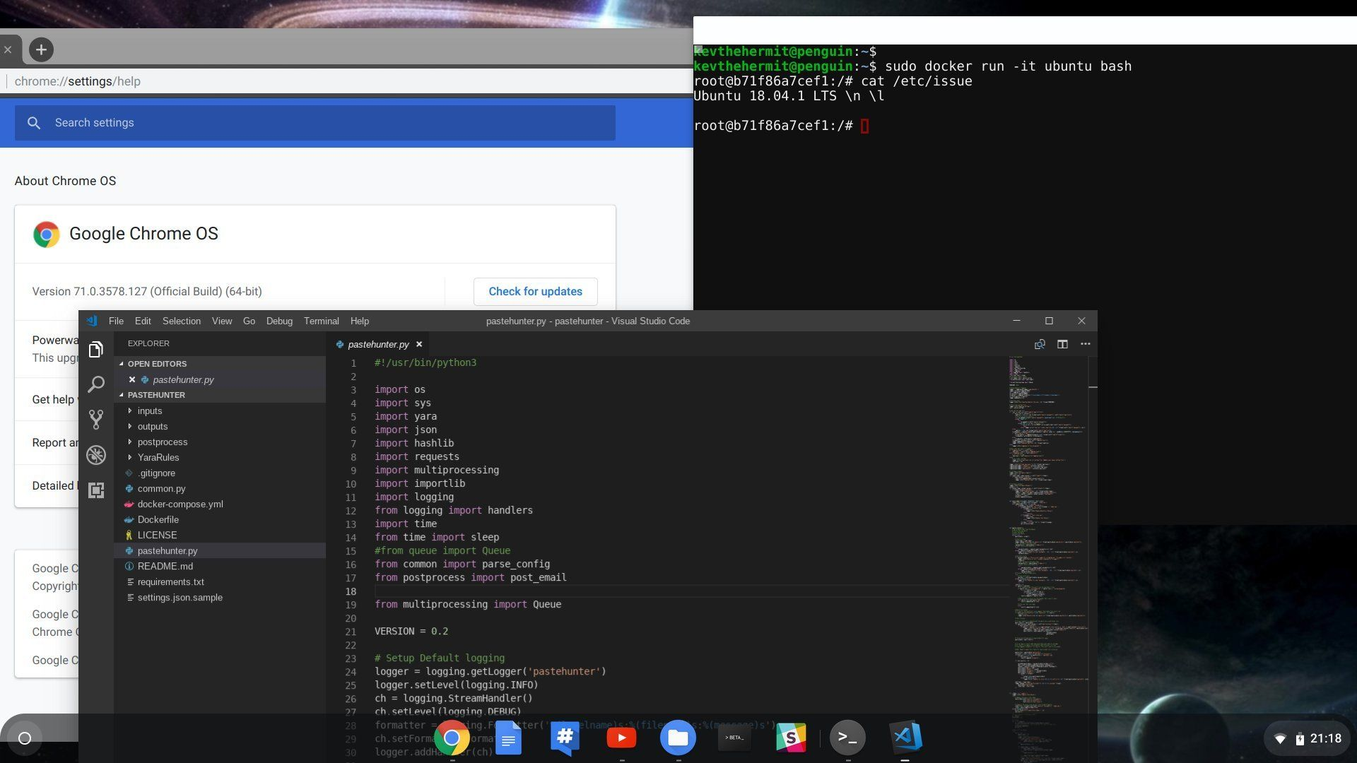 Dev Tools on a Chromebook